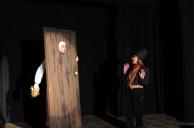 Jasper Holiday (Jacob Marley) and Yvonne Hegarty (Scrooge)