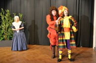 Maria (Margaret Bown), Sir Toby Belch (Andy Noakes) and Malvolio (David Clark)